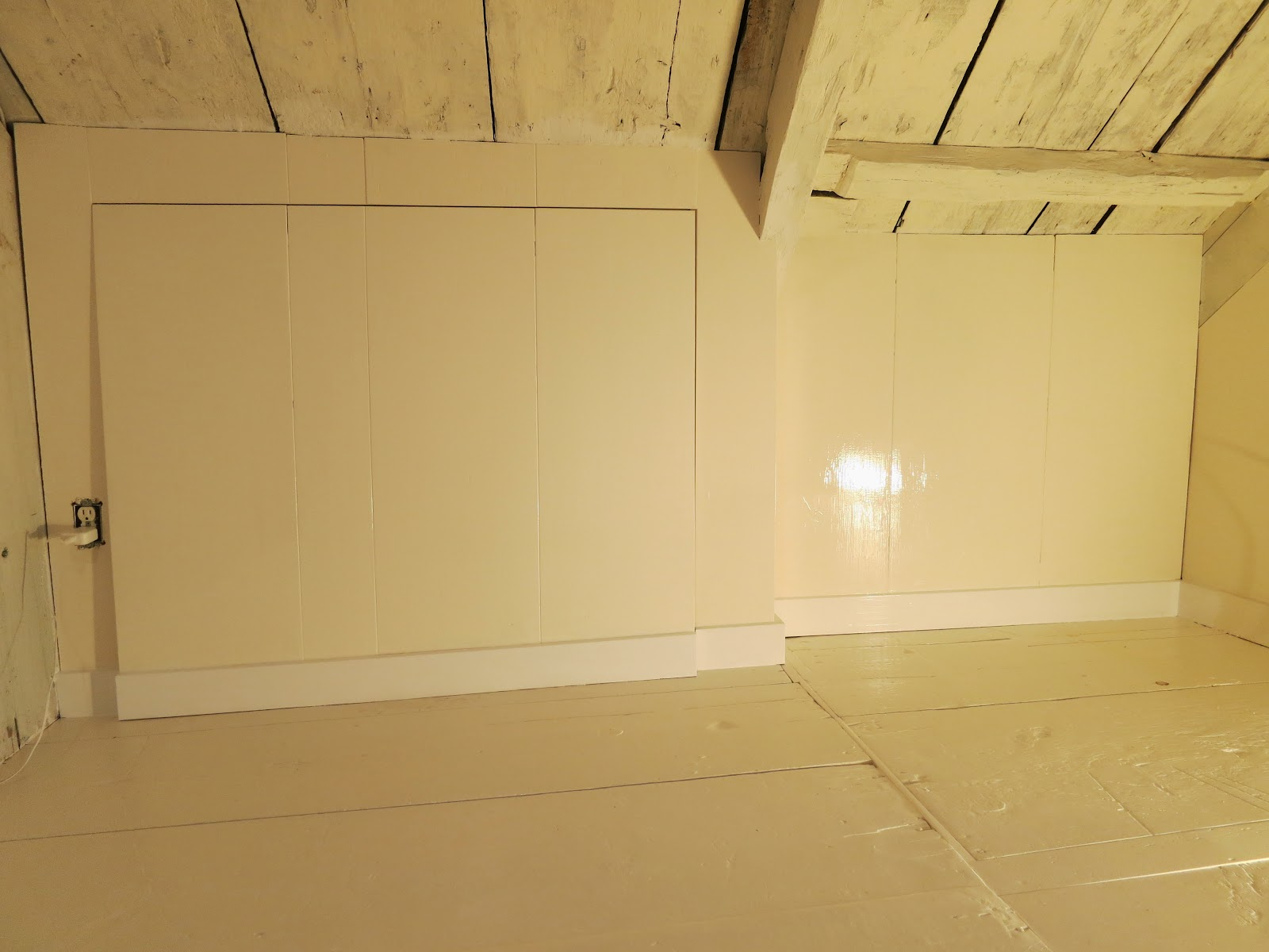 An Old Farm New Knee Wall Closet