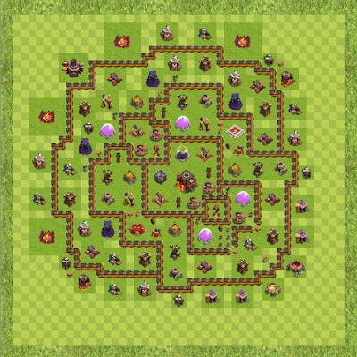 War Base Town Hall Level 10 By Kamal Garg (new TH 10 Layout)