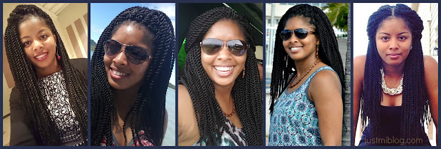 Five different ways to style crochet braids and Senegalese twists
