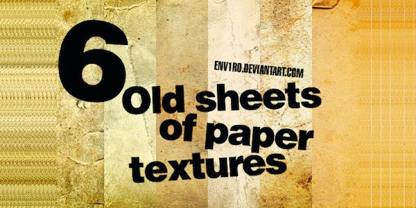 5. Old Sheets of Paper Textures