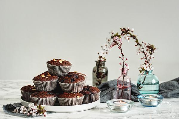 Čokoladni mafini sa ovsenim pahuljicama i bademima