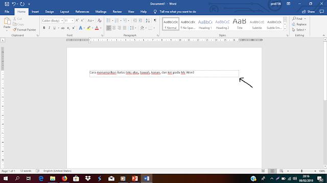 Cara Menampilkan Batas Teks pada Microsoft Office Word
