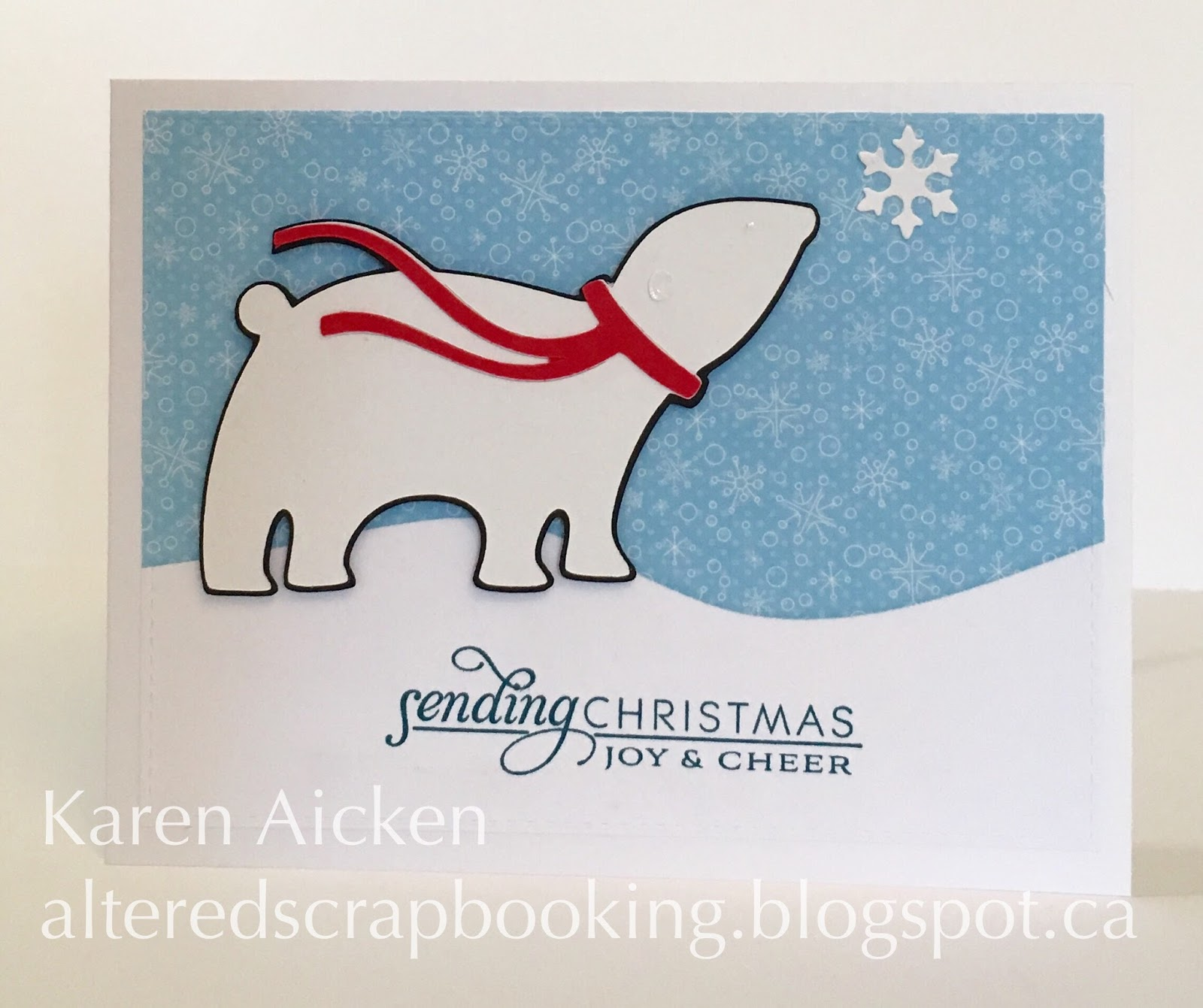 Altered Scrapbooking: Polar Bear Christmas Cards