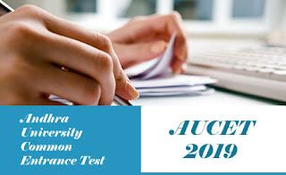 AUCET 2019 Notification, AUCET 2019 Online Application form