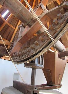 Molino de Las Negras. Interior de un molino
