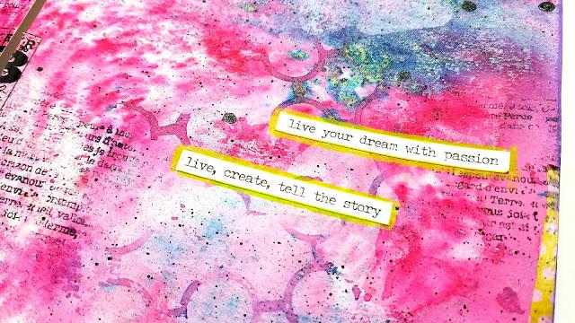 pretty art journal page