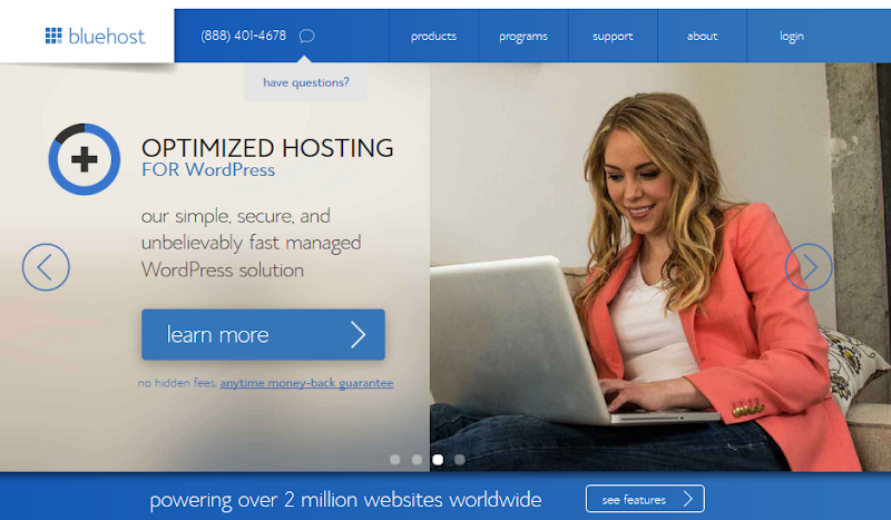 BlueHost Review Shared Hosting for WordPress : eAskme