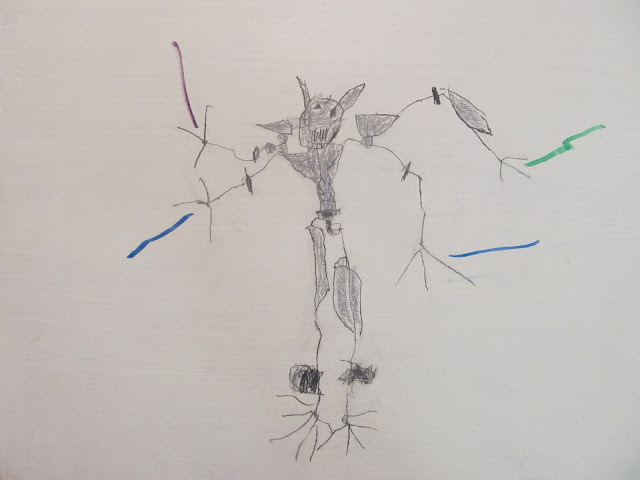 General Grievous  Graphite and Colored Pencils on Gessoed Masonite  Anderson Campello, c.2015  11x14 inches