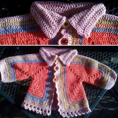 Hexagonal Baby Sweater - Free Pattern