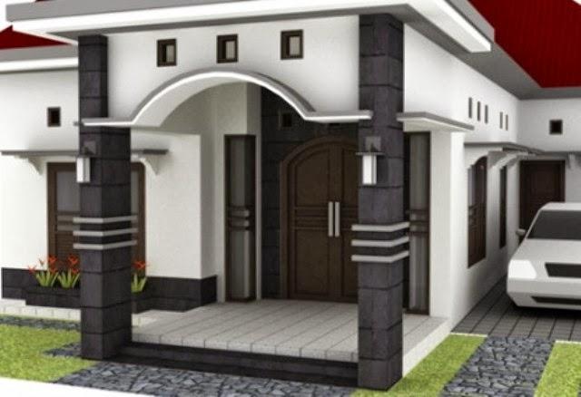 Konsep Desain Rumah Cara Memilih Bentuk Tiang Teras Rumah Model Minimalis