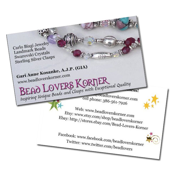 Awesome business cards for a fresh new look bead lovers korner blog old business cards reheart Image collections