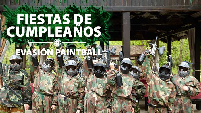 Especializados en Fiestas y Eventos de Paintball para niños en Madrid