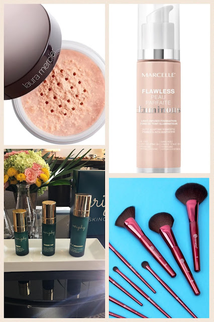 Makeup Radar: Laura Mercier Powder, Marcelle Foundation, Veriphy Skincare, BH Cosmetics Fan Brushes