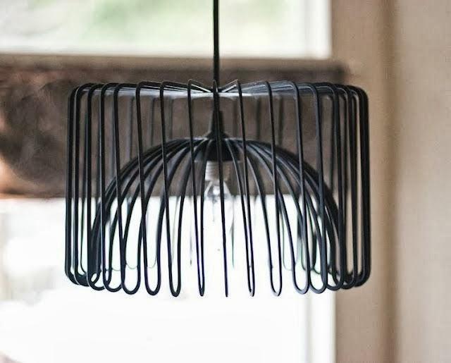 diy express une corbeille devient luminaire design. Black Bedroom Furniture Sets. Home Design Ideas