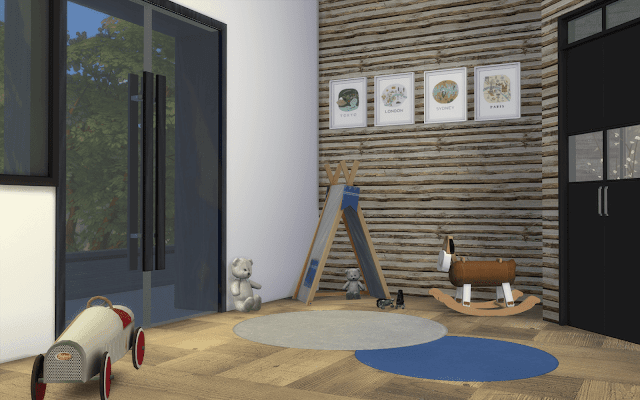 chambre enfant chalet sims 4