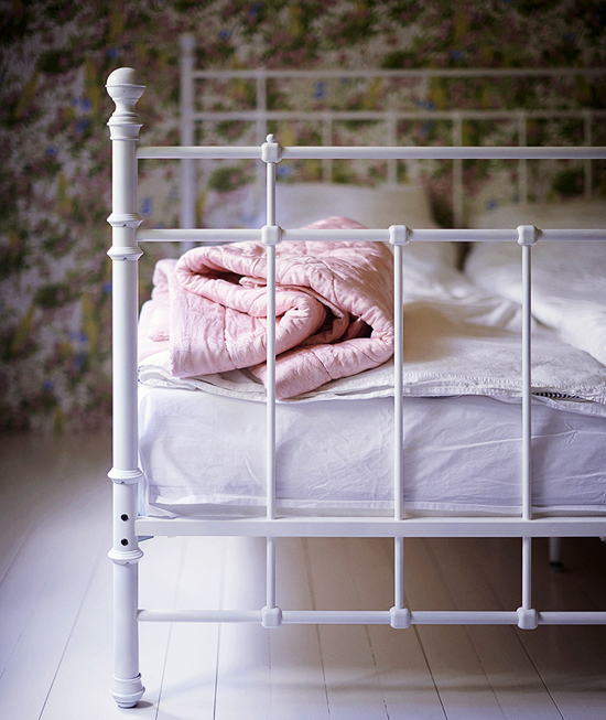 White iron bed via Weekday Carnival