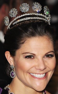 Sweden Six Button Tiara Crown Princess Victoria