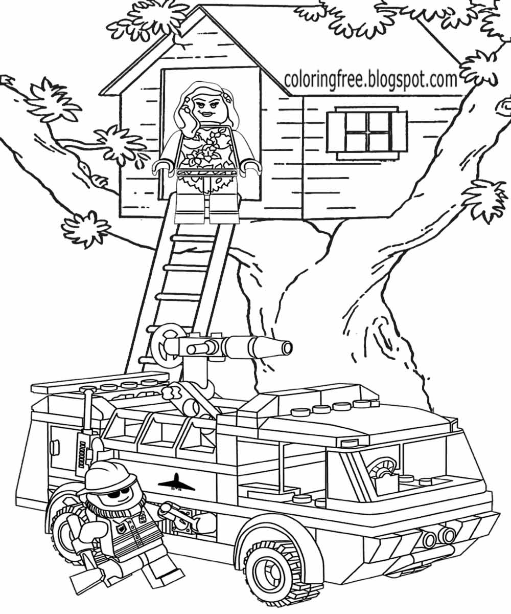 lego coloring pages printables | Printable Lego City Coloring Pages For Kids Clipart ...
