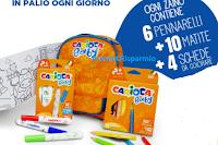 Logo Vinci 305 zainetti Carioca Baby con pennarelli, matite e schede da colorare