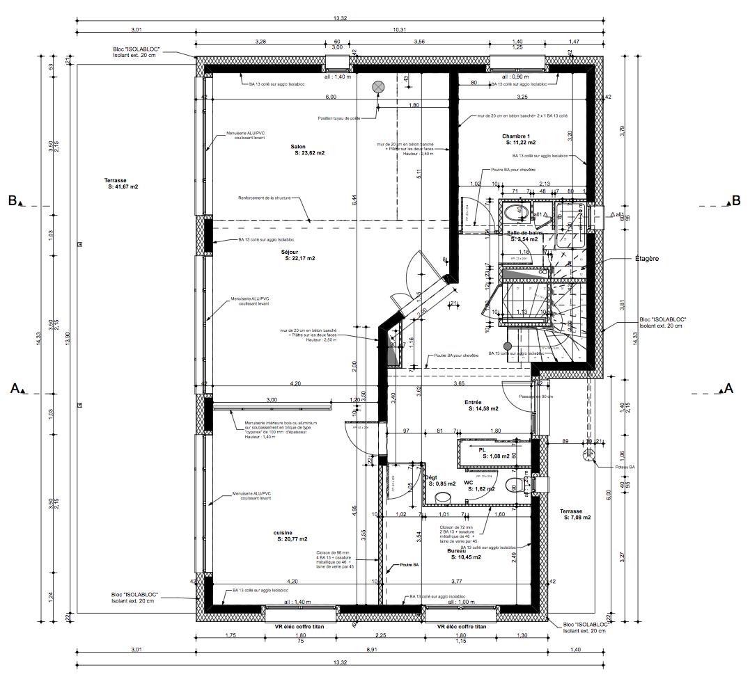 notre maison en haute garonne les plans. Black Bedroom Furniture Sets. Home Design Ideas