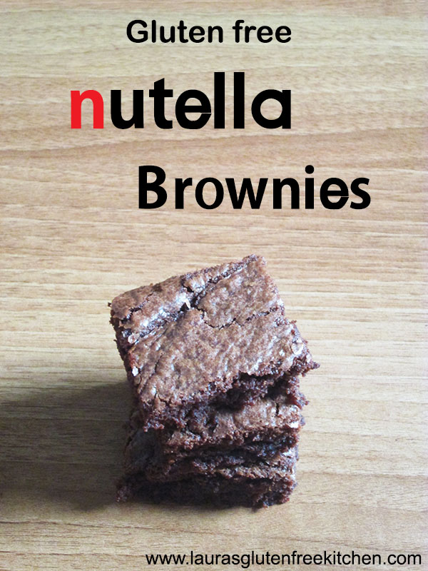 gluten free Nutella Brownies