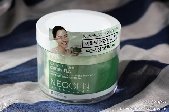 Neogen Dermalogy Bio-Peel Gauze Peeling Green Tea / Трехслойные пилинговые диски с зеленым чаем