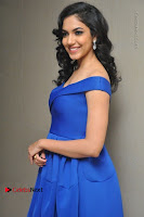 Actress Ritu Varma Pos in Blue Short Dress at Keshava Telugu Movie Audio Launch .COM 0029.jpg