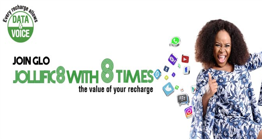 Jollific8 - New Glo Tariff Plan That Gives You 800% Value of Your Recharge Amount