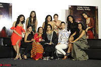 Vidya Balan with Ila Arun Gauhar Khan and other girls and star cast at Trailer launch of move Begum Jaan 009.JPG