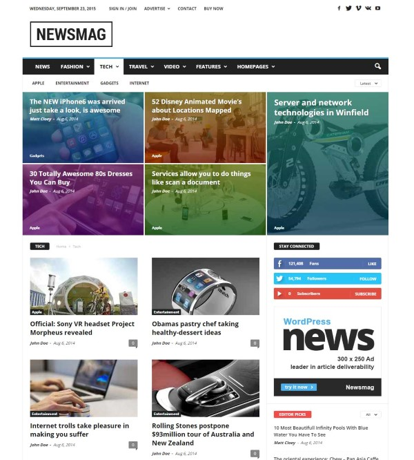 newsmag theme for news magazine