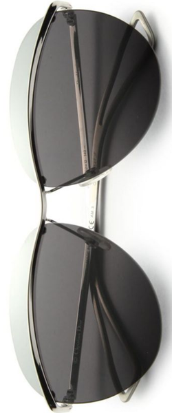 Dior Colorblocked 62MM Round Sunglasses in Silver