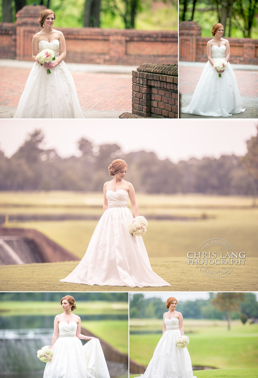 Wedding pictures at the brick bridge in River Landing - Wedding Photography Ideas