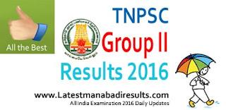 TNPSC Group 2A Merit List 2016, TNPSC Group II Result 2016, TNPSC CCSE II Group 2 Result 2016, TNPSC Group 2A Results