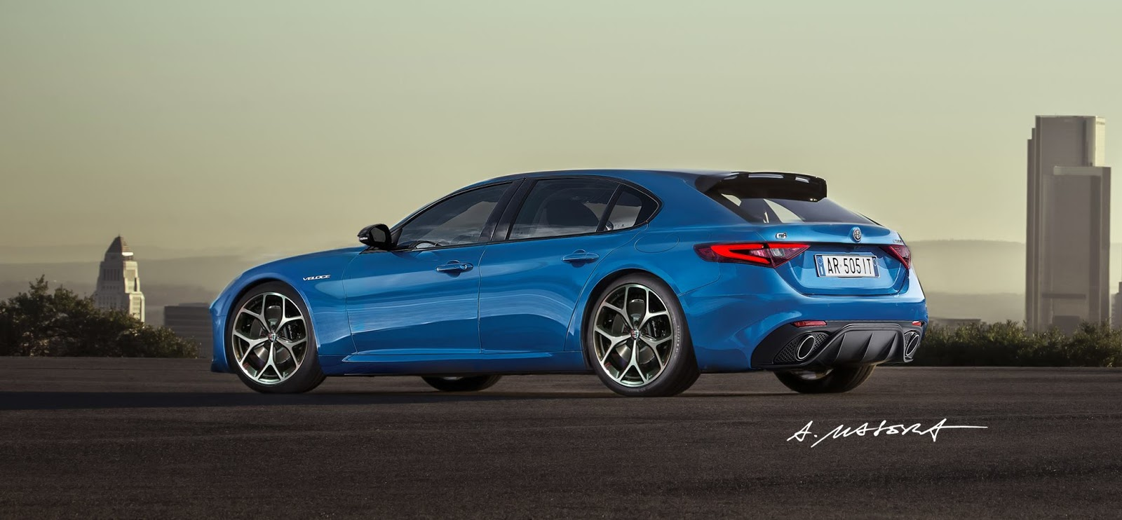 alfa romeo giulia veloce could be the perfect shooting brake carscoops. Black Bedroom Furniture Sets. Home Design Ideas