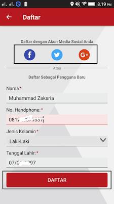 Cara daftar di Aplikasi Roli Telkomsel