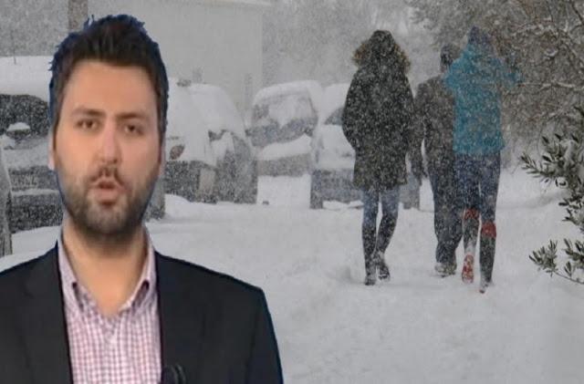 Καλλιάνος: Έρχονται χιόνια και βροχές από την Παρασκευή – Πού θα «χτυπήσει» η κακοκαιρία