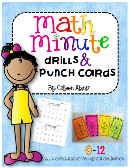 https://www.teacherspayteachers.com/Product/Math-Fact-Punch-Cards-with-Minute-Drills-730322