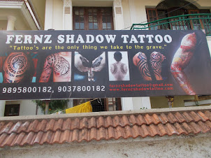 """TATTOO ART""  catchy saying in Fort Kochi."