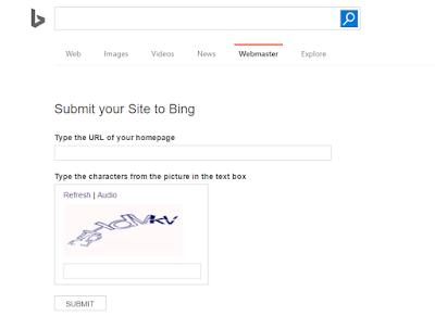 Cara Submit Artikel Blog ke Bing