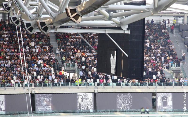 табло стадиона ювентуса