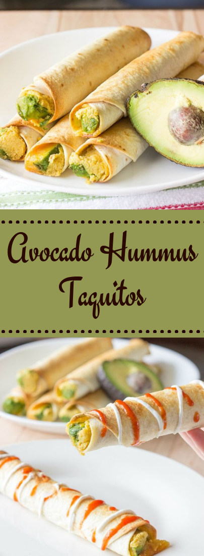 Avocado Hummus Taquitos #vegetarian #recipe