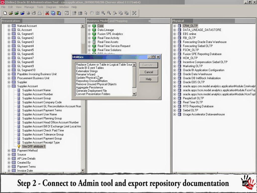 Obiee Architecture Diagram Stc 1000 Temperature Controller Wiring Oracle Ebs Hands On How To Find Database Fields For An