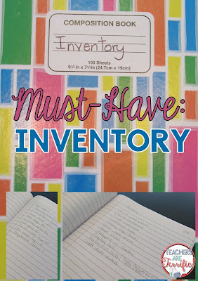 A time saving tip if you have a lot of science or STEM materials- keep an inventory list! Check this blog post for more organizational tips!
