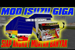 Mod Truck Isuzu Giga Suspensi Turun Bussid