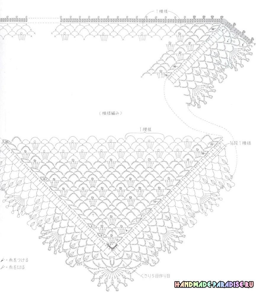 вязание крючком ажурных кофточек со схемами
