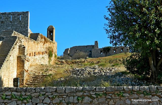 Muralhas da Fortaleza de Palamidi, em Nafplio