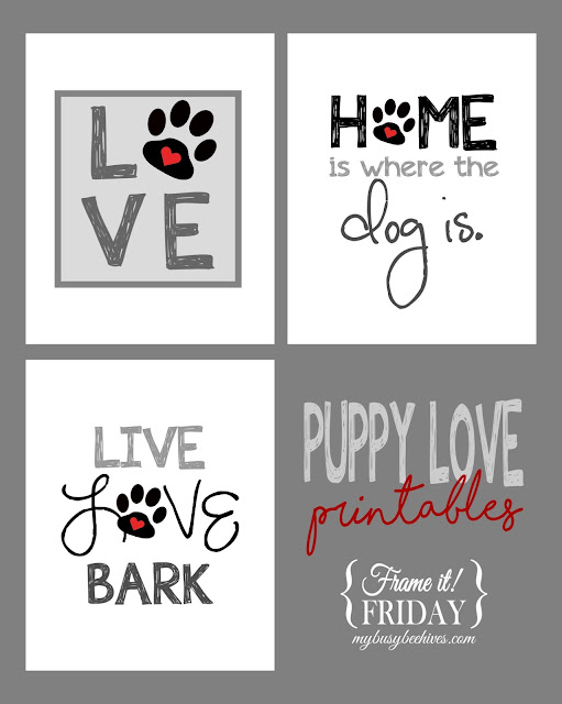 Puppy Love printables