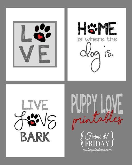 Puppy Love printables