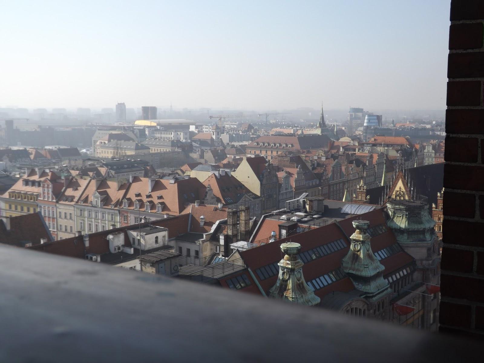 widok z Mostu pokutnic we Wrocławiu