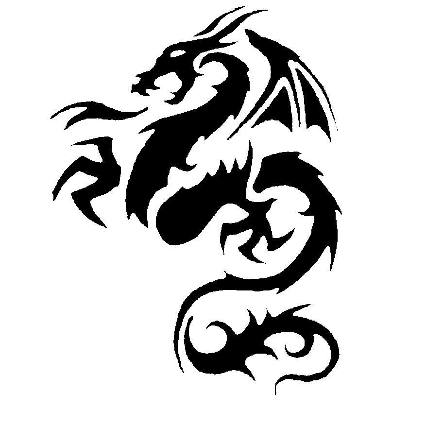 Dragon Tattoos and Designs  Page 70  Tribal Art Dragon Simple